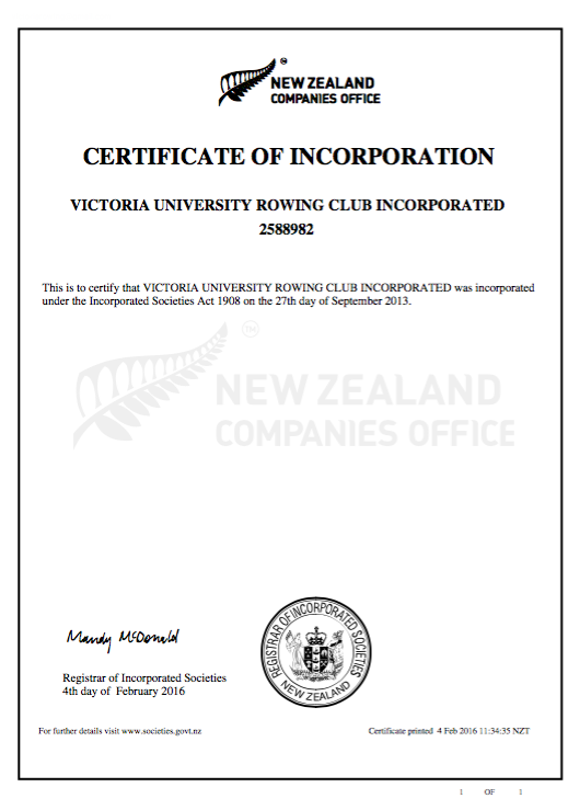 Certificate of Incorporation picture format